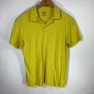 Bright Yellow Polo Shirt Sz Large Athletic Fit